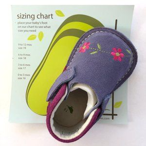 Pipit Eco-Friendly Suede Floral Baby Shoes NIB